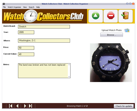 Watch Collection Software