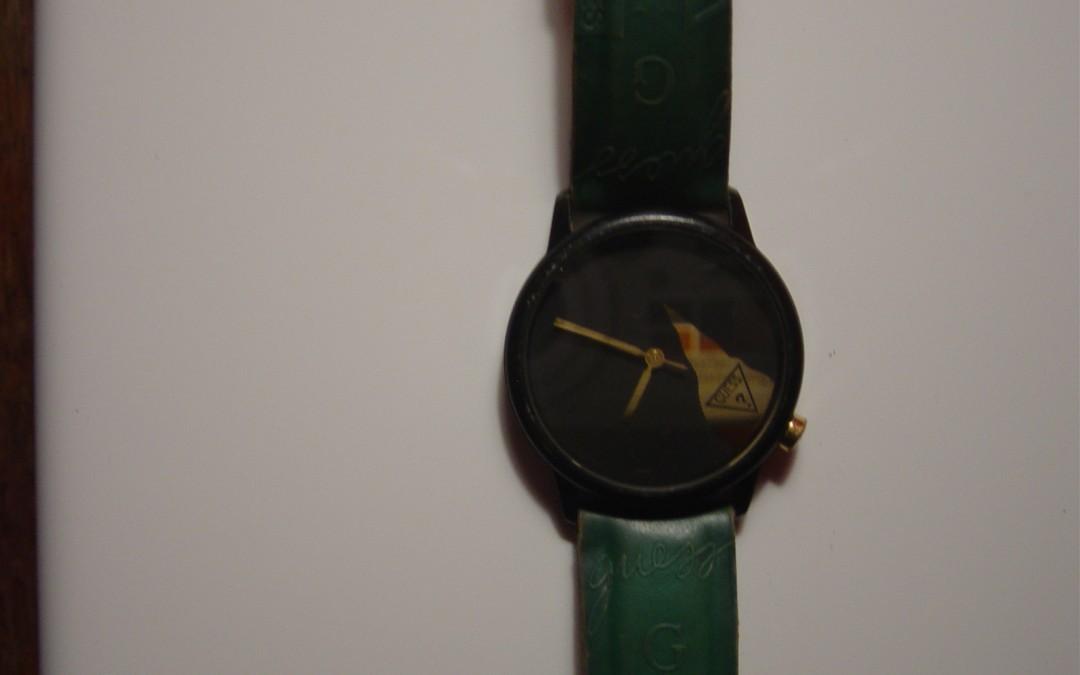 Green Guess Watch