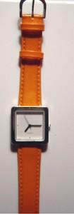 pleather-orange-watch-band