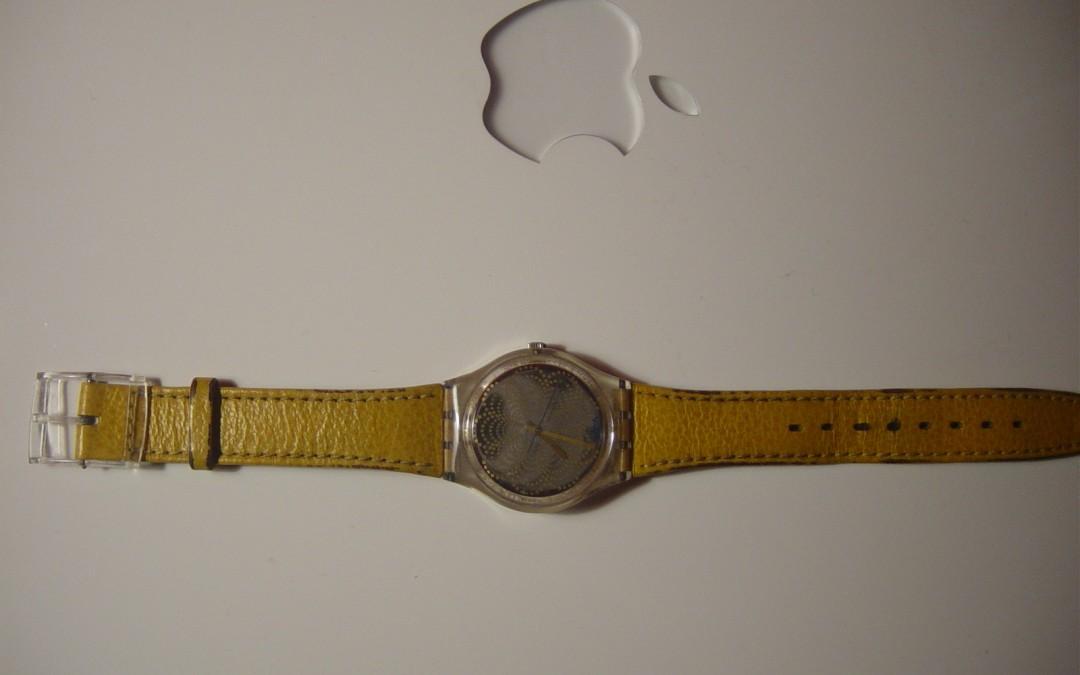 Yellow Sparkling Swatch Watch