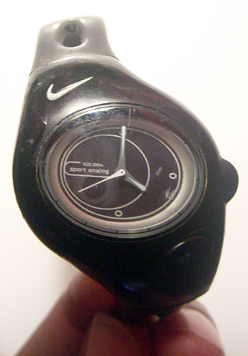 Black Nike Analog Sports Watch