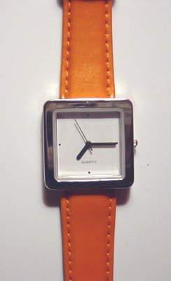 Orange Quartz Watch