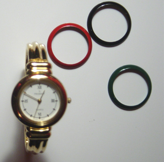 Peugeot Gold Watch Changeable Dial Covers